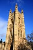 Costruzione del Parlamento del Regno Unito Fotografia Stock