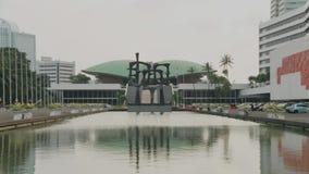 Costruzione del Parlamento dell'Indonesia video d archivio