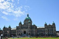 Costruzione del Parlamento della Columbia Britannica Fotografia Stock Libera da Diritti