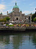 Costruzione del Parlamento della Victoria, BC, il Canada Fotografie Stock Libere da Diritti