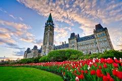Costruzione del Parlamento di Ottawa Immagini Stock Libere da Diritti