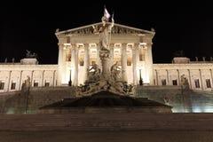 Costruzione del Parlamento di Wien fotografie stock