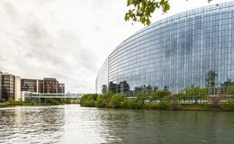 Costruzione del Parlamento Europeo Fotografie Stock