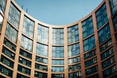 Costruzione del Parlamento Europeo Fotografia Stock Libera da Diritti