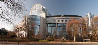Costruzione del Parlamento Europeo a Bruxelles Fotografia Stock Libera da Diritti