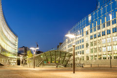 Costruzione del Parlamento Europeo a Bruxelles Immagine Stock Libera da Diritti
