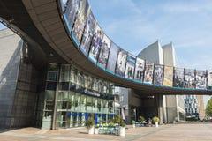 Costruzione del Parlamento Europeo a Bruxelles, Belgio Fotografia Stock