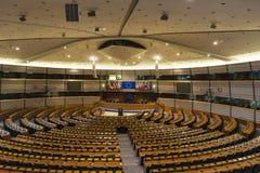 Costruzione del Parlamento Europeo a Bruxelles, Belgio Immagine Stock Libera da Diritti