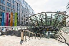 Costruzione del Parlamento Europeo a Bruxelles, Belgio Immagine Stock