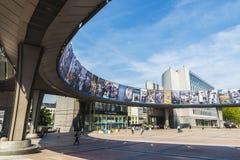Costruzione del Parlamento Europeo a Bruxelles, Belgio Immagini Stock