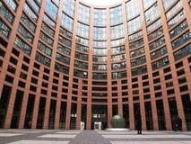 Costruzione del Parlamento Europeo a Strasburgo fotografia stock