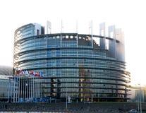 Costruzione del Parlamento Europeo a Strasburgo fotografie stock libere da diritti