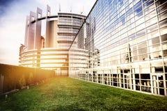 Costruzione del Parlamento Europeo Strasburgo, Francia Fotografie Stock