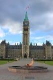 Costruzione del Parlamento in Ottawa, Canada Fotografia Stock