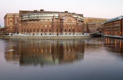 Costruzione del Parlamento, Stoccolma. Fotografie Stock