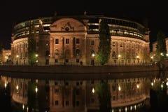 Costruzione del Parlamento a Stoccolma, Svezia Fotografie Stock Libere da Diritti