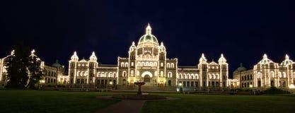 Costruzione del Parlamento in Victoria BC Canada Fotografie Stock