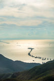 Costruzione del ponte di Hong Kong-Zhuhai-Macau immagini stock