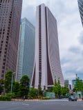 Costruzione del quartiere generale di Sompo Japan Nippon Koa Credit Corporation a Tokyo - TOKYO, GIAPPONE - 17 giugno 2018 Fotografia Stock Libera da Diritti