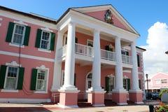Costruzione del senato delle Bahamas fotografie stock libere da diritti