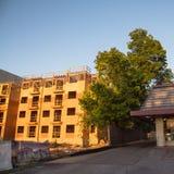 Costruzione del sito dell'appartamento a Huntsville, il Texas, U.S.A. Immagini Stock Libere da Diritti