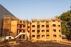 Costruzione del sito dell'appartamento a Huntsville, il Texas, U.S.A. Immagini Stock