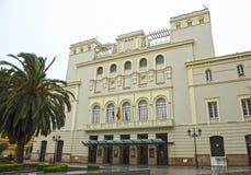 Costruzione del teatro Lopez de Ayala a Badajoz, Spagna fotografia stock libera da diritti