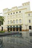 Costruzione del teatro Lopez de Ayala a Badajoz, Spagna fotografie stock