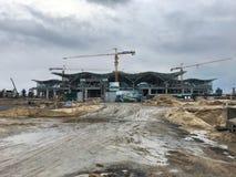 Costruzione del terminal passeggeri internazionale di Ranh della camma, Vietn Fotografia Stock Libera da Diritti