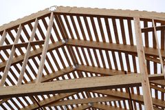 Costruzione del tetto Immagine Stock