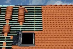 Costruzione del tetto Immagini Stock Libere da Diritti
