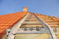 Costruzione del tetto Fotografia Stock Libera da Diritti