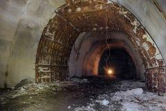 Costruzione del tunnel sotterraneo del trasporto Immagini Stock