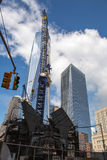 Costruzione del World Trade Center, New York Immagine Stock