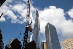Costruzione del World Trade Center, New York Fotografie Stock Libere da Diritti