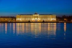 Costruzione dell'accademia delle arti a St Petersburg. Fotografie Stock