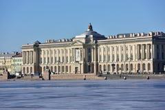 Costruzione dell'accademia russa delle arti a St Petersburg Fotografia Stock