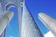 Costruzione dell'acciaio del ponte di corda Fotografia Stock