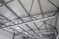 Costruzione dell'acciaio del tetto Fotografia Stock