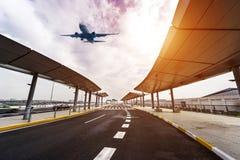 Costruzione dell'aeroporto Fotografie Stock Libere da Diritti