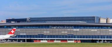 Costruzione dell'aeroporto di Zurigo Fotografia Stock Libera da Diritti