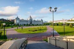Costruzione dell'agricoltura minostry a Kazan La Russia Fotografia Stock Libera da Diritti