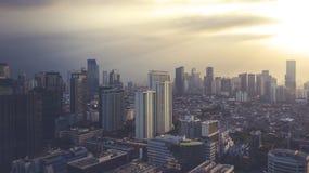 Costruzione dell'alta carica su Jakarta del centro Immagini Stock