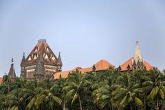Costruzione dell'alta corte di Bombay in Mumbai, India Immagini Stock