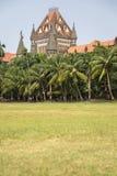 Costruzione dell'alta corte di Bombay in Mumbai, India Fotografia Stock Libera da Diritti