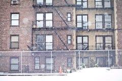 Costruzione dell'appartamento di New York City Immagine Stock