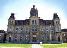 Costruzione dell'Assemblea di Legeslative a Fredericton N.B.: immagini stock libere da diritti