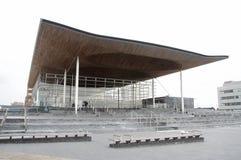 Costruzione dell'Assemblea di Lingua gallese Immagini Stock