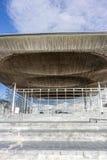Costruzione dell'Assemblea di Lingua gallese alla baia di Cardiff, Regno Unito Immagini Stock Libere da Diritti