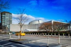Costruzione dell'assemblea generale delle nazioni unite Fotografia Stock